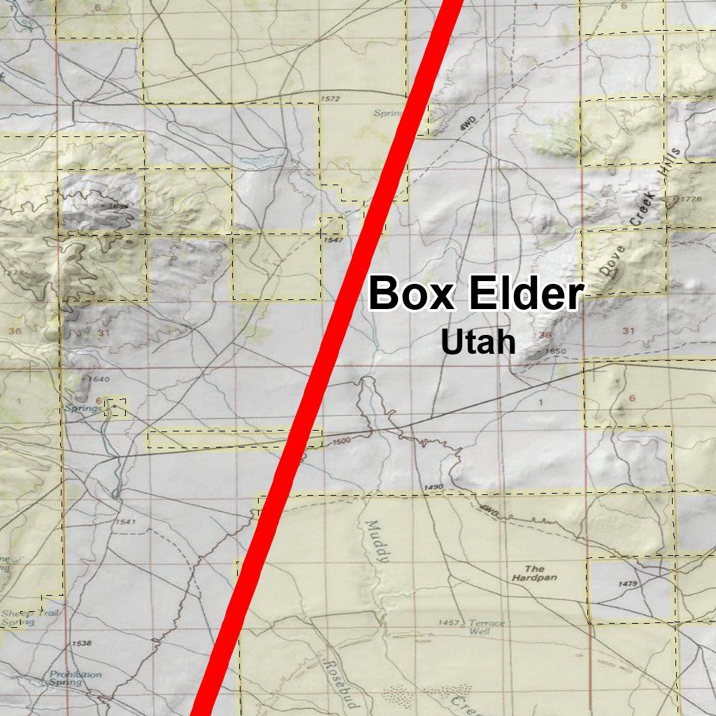Grouse Creek Utah Map.Utah Dwr Hunt Map Box Elder Grouse Creek Bull Elk Map The