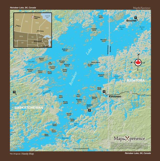Reindeer Lake - Saskatchewan Canada - Map the Xperience - Avenza Maps