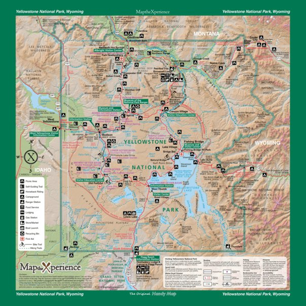 Yellowstone National Park Map The Xperience Avenza Maps