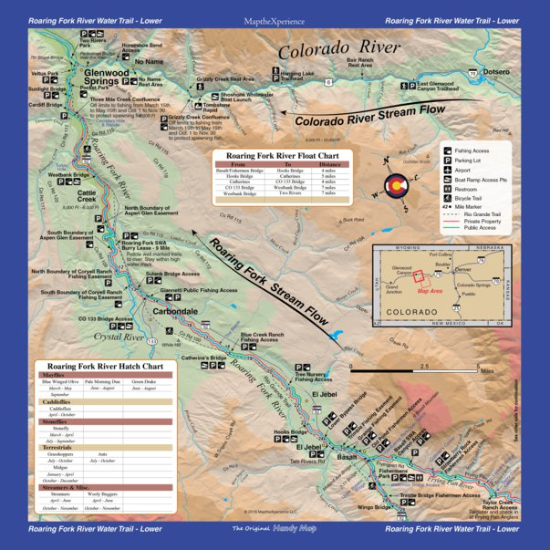 Western River Tailwater Fishing Map Series 7 Rivers 8 Maps Map