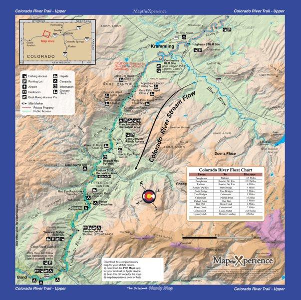 Colorado River Fishing Map Bundle Colorado Map The Xperience - Colorado river map world atlas
