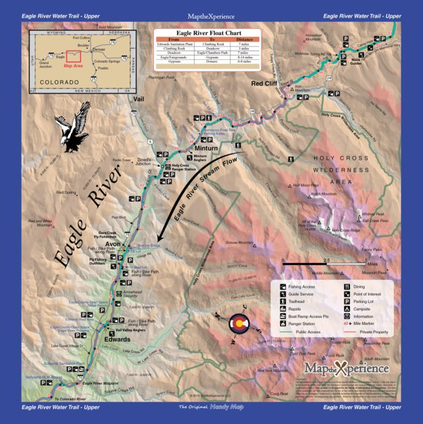 Map Of Edwards Colorado Eagle River Fishing Map Bundle   Colorado   Map the Xperience