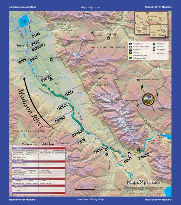Madison River Montana Map.Madison River Fishing Map Montana Map The Xperience Avenza Maps