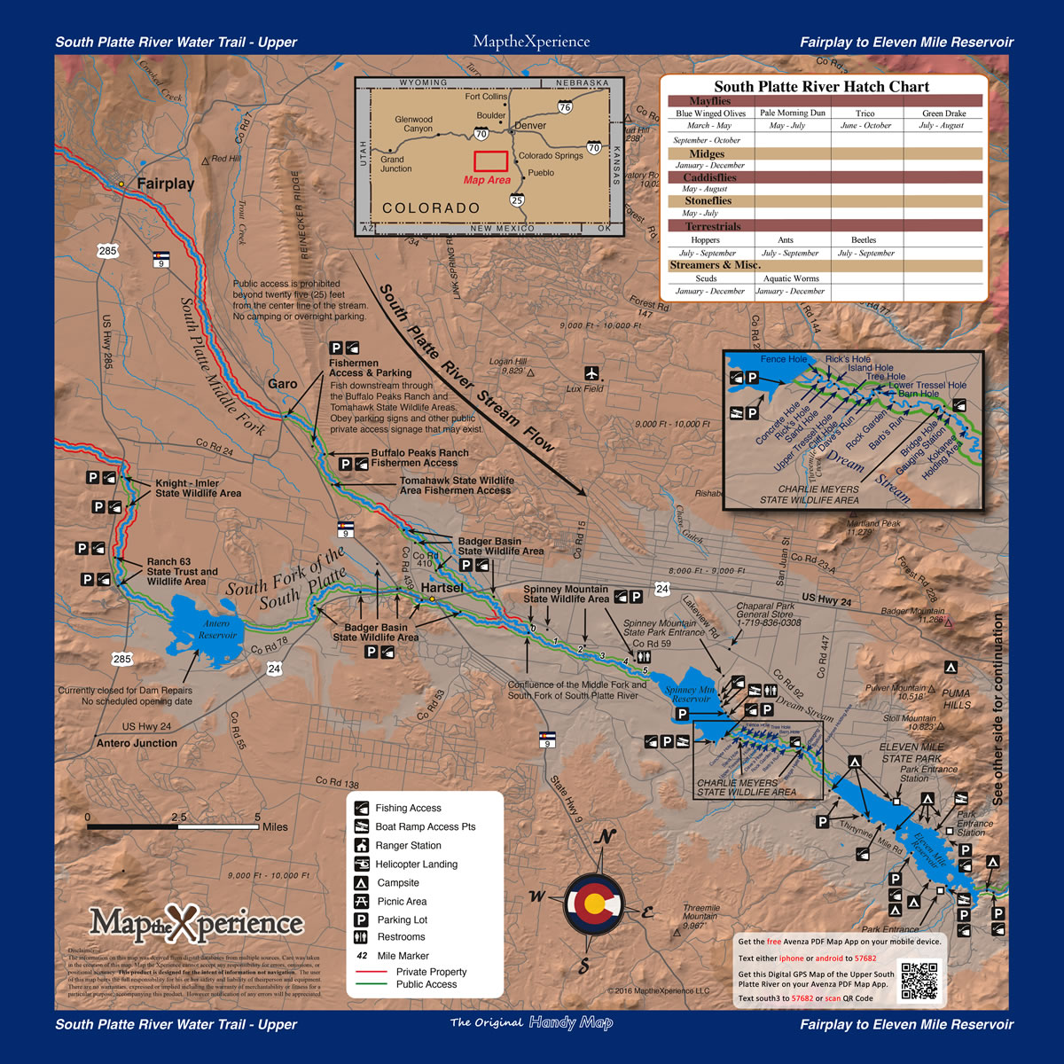 South Platte River Fishing Map Bundle - Colorado