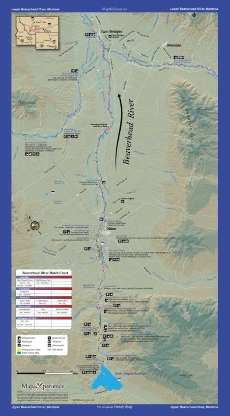 Beaverhead River Fishing Map - Montana