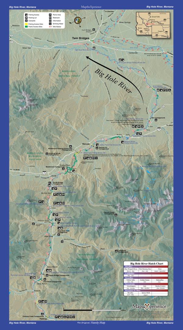 Bighole River Montana Fishing Map