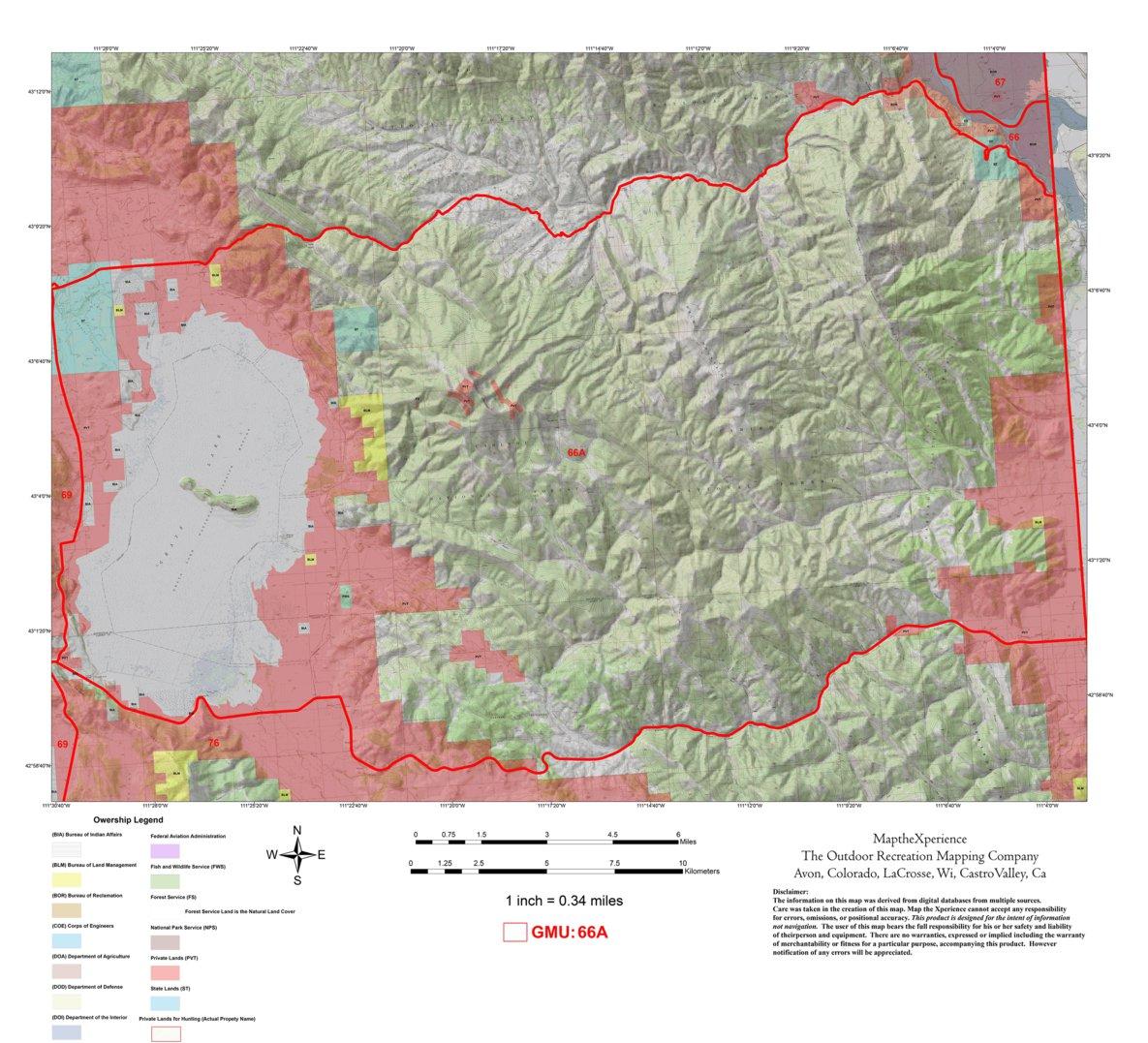Blm Land Idaho Map.Idaho Hunt Area 66a Map The Xperience Avenza Maps