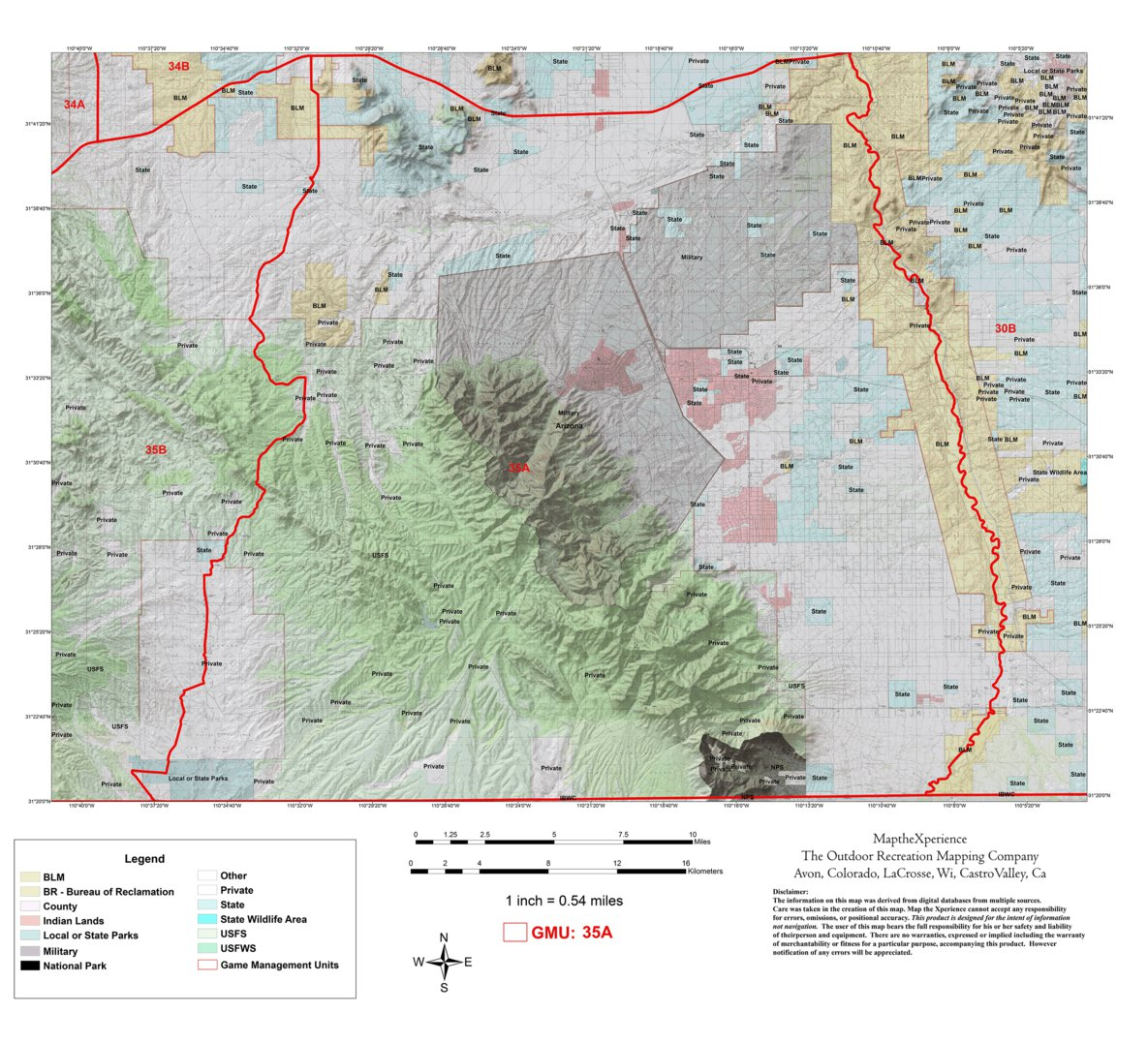Arizona GMU 35A Hunting Map - Map the Xperience - Avenza Maps