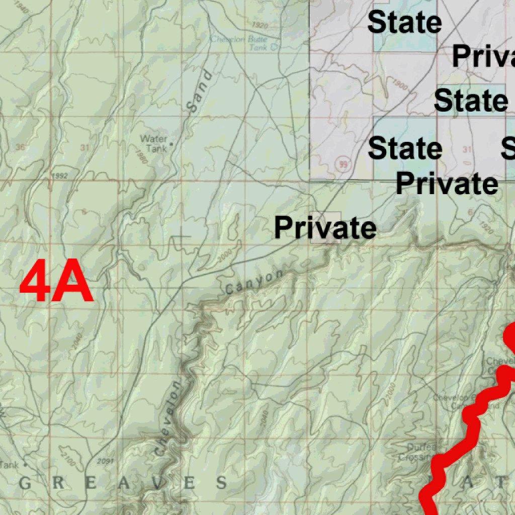 Map Of Unit 4a Arizona.Arizona Gmu 4a Hunting Map Map The Xperience Avenza Maps