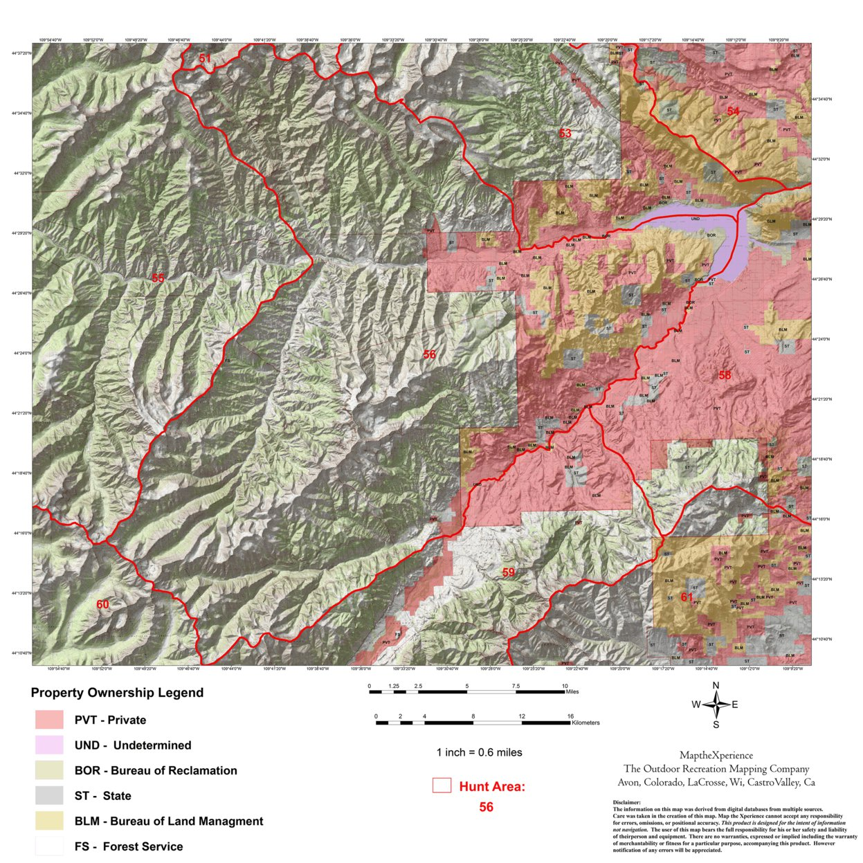 Wyoming Elk Hunt Area 56 - Map the Xperience - Avenza Maps
