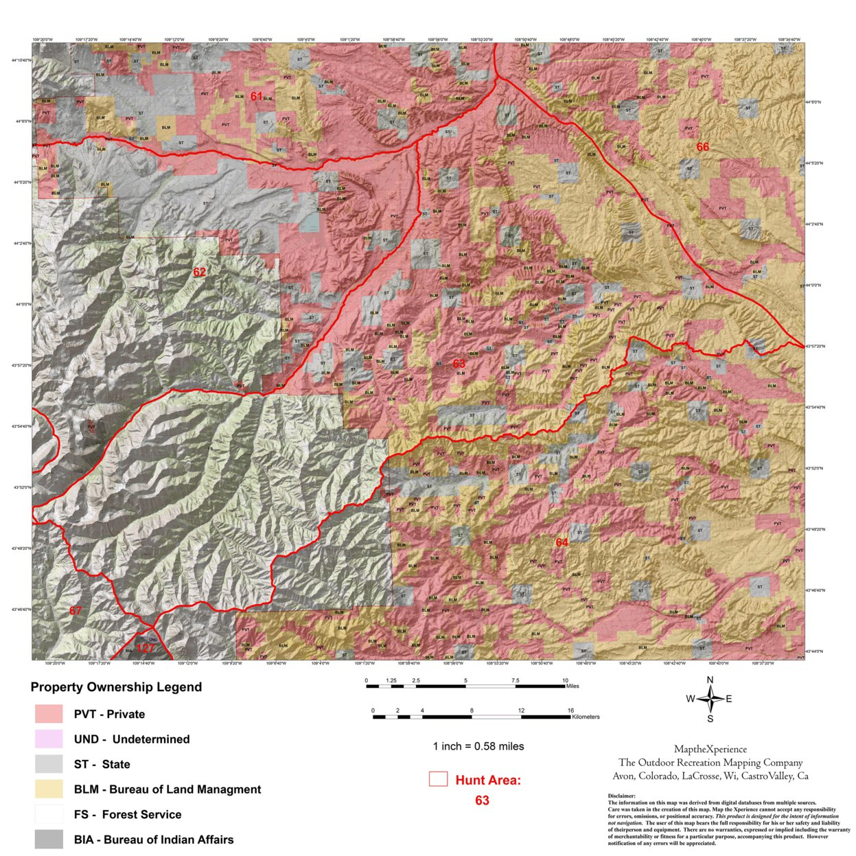 Wyoming Elk Hunt Area 63 - Map the Xperience - Avenza Maps