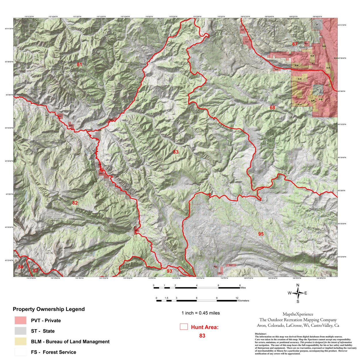 Wyoming Elk Hunt Area 83 - Map the Xperience - Avenza Maps
