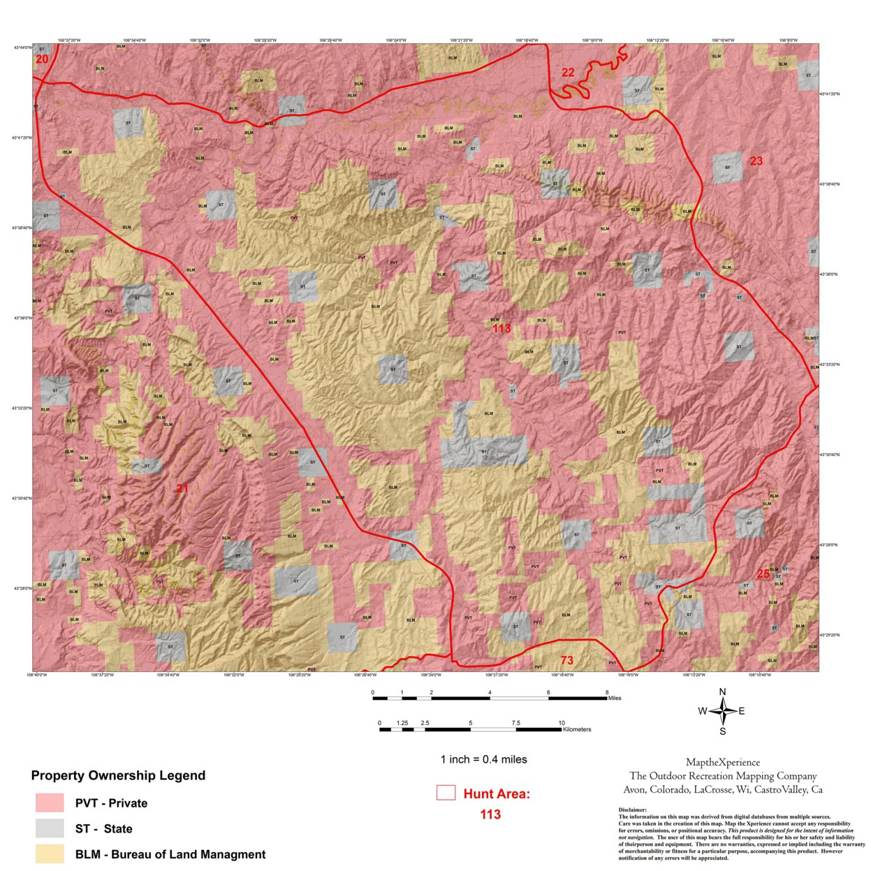 Wyoming Antelope Hunt Area 113 - Map the Xperience - Avenza Maps
