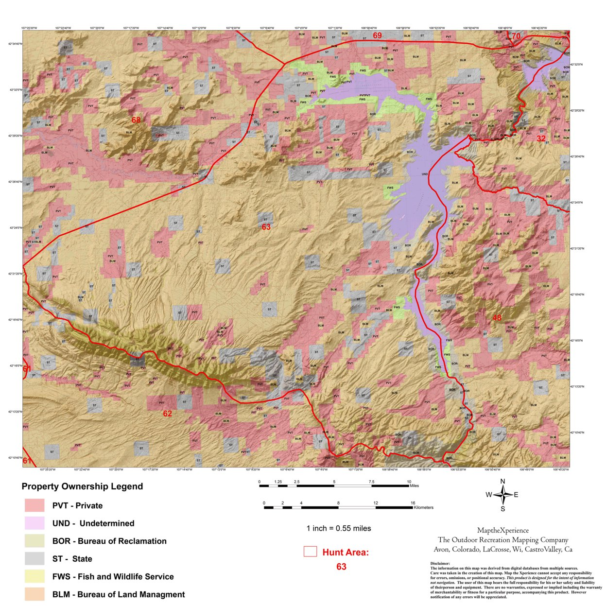 Wyoming Antelope Hunt Area 63 - Map the Xperience - Avenza Maps