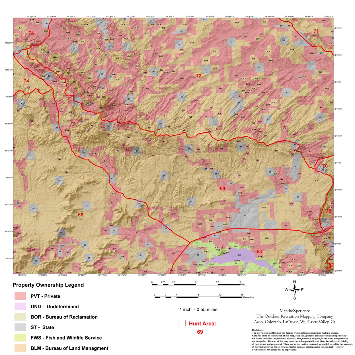 Wyoming Antelope Hunt Area 69 - Map the Xperience - Avenza Maps