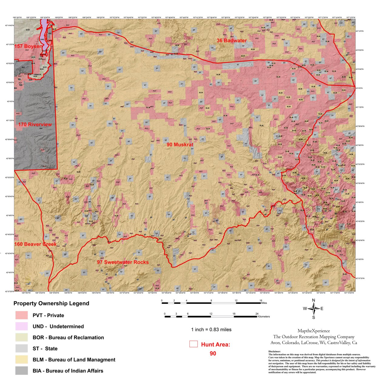 Wyoming Deer Hunt Area 90 - Map the Xperience - Avenza Maps