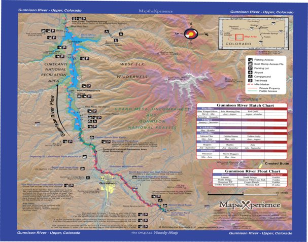 Gunnison River Colorado Fishing Map - Upper - Map the Xperience ...