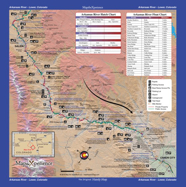 Arkansas River Colorado Fishing Map - Lower - Map the Xperience ...