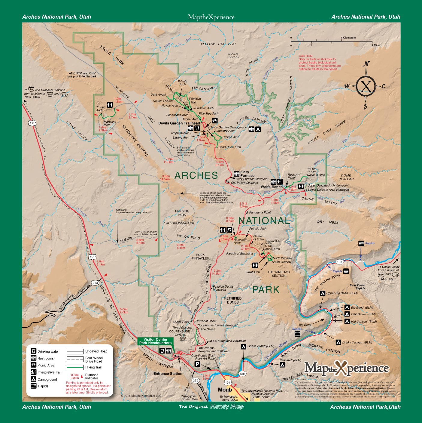Arches National Park Map - Map the Xperience - Avenza Maps