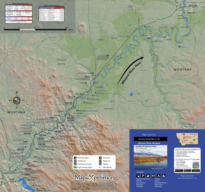 Missouri River Fishing Map Montana Map The Xperience Avenza Maps
