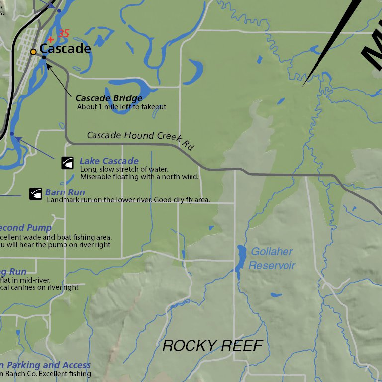 7 Montana Fishing Maps Map The Xperience Avenza Maps