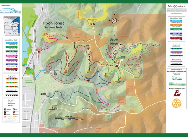 Hixon Forest Trail Map