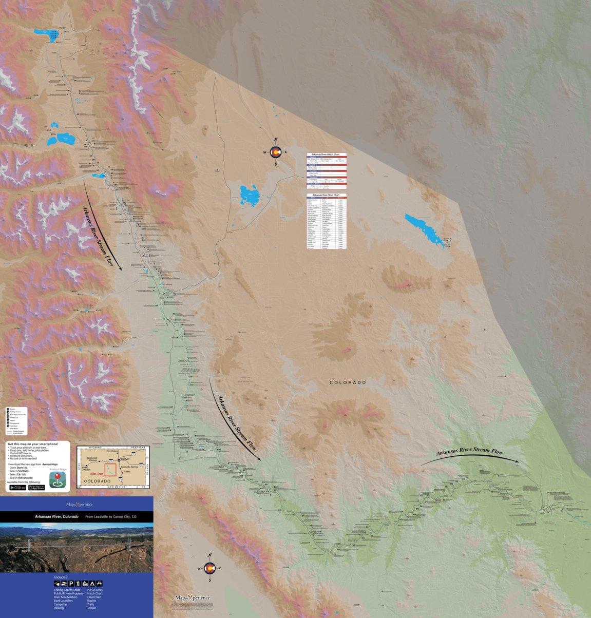 Arkansas River Colorado Fishing Map Map The Xperience Avenza Maps