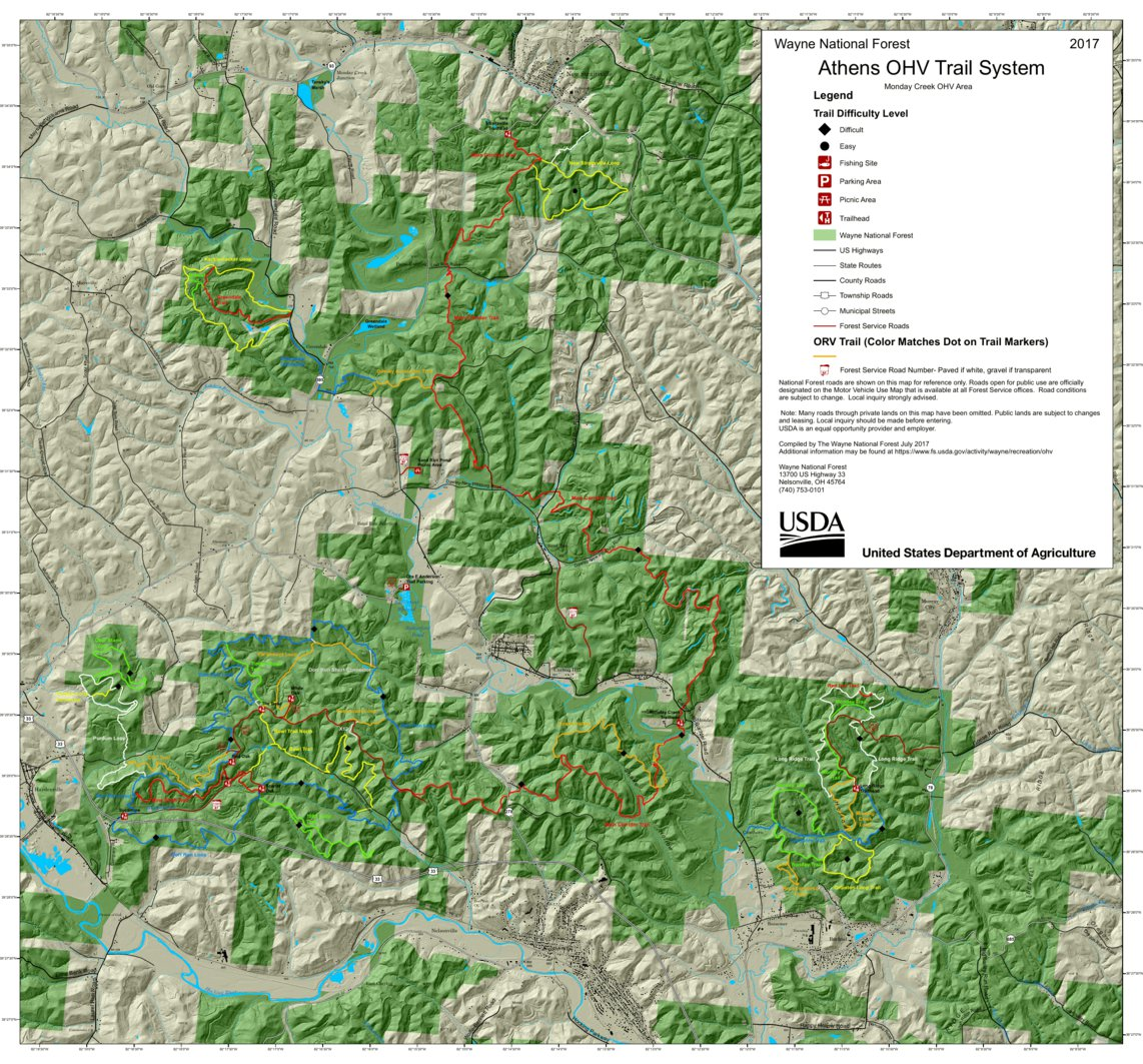 Wayne NF; Athens Ranger District OHV Trail System - US Forest ...