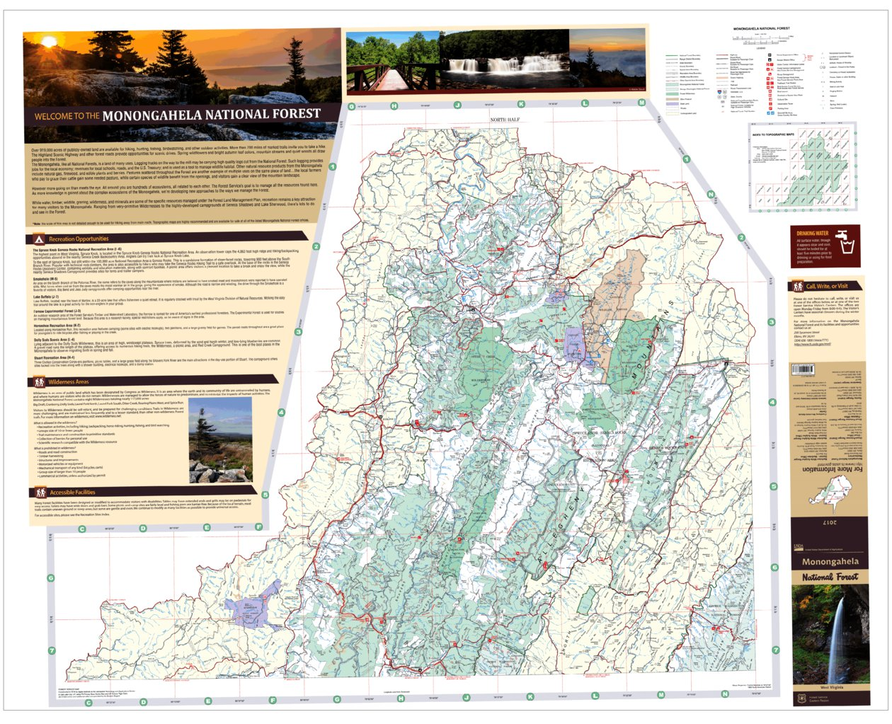 Monongahela Forest Visitor Map North - US Forest Service R9 - Avenza ...