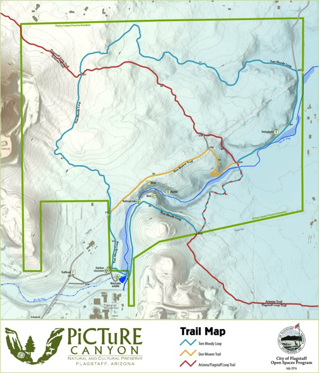Map Of Flagstaff Arizona.Picture Canyon Preserve Trail Map City Of Flagstaff Avenza Maps