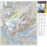 Travel and Trekking Map Torres del Paine