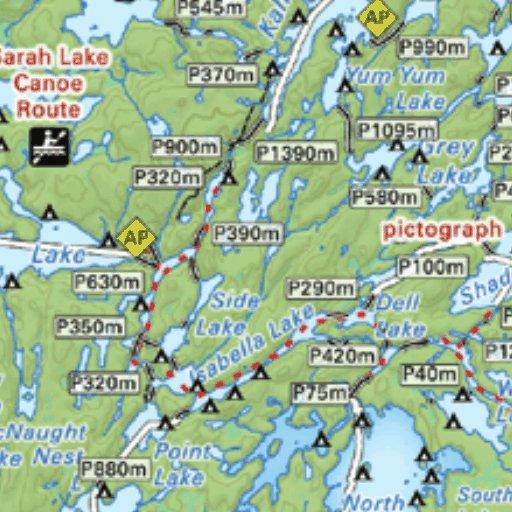 Quetico Provincial Park Map on