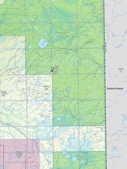 Map Johnson Lake Northern Alberta Backroad Mapbooks Avenza Maps - Johnson lake map