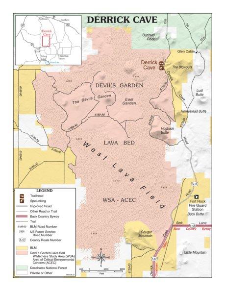 Derrick Cave Bureau of Land Management Oregon Avenza Maps