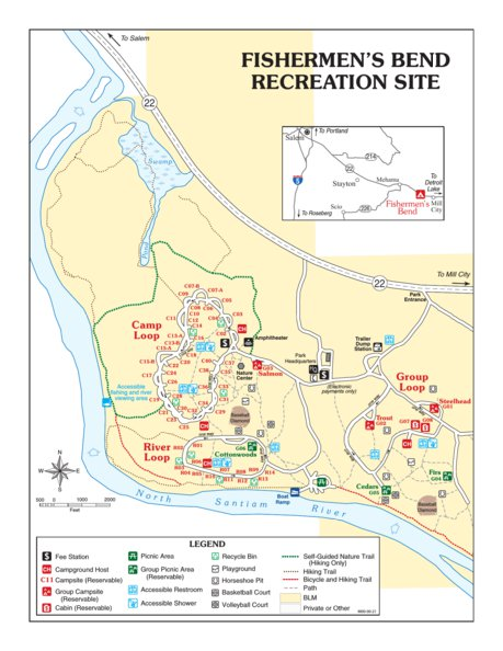 Fishermen's Bend Recreation Site - Bureau of Land Management ... on bend business map, sunnyside or map, warren or map, island city or map, bend oregon, troy or map, winchester bay or map, burlington or map, government camp or map, huntington or map, long beach or map, lafayette or map, lane county or map, carlton or map, summerville or map, keizer or map, texas big bend national park map, eagle crest or map, multnomah county or map, big bend national park trail map,