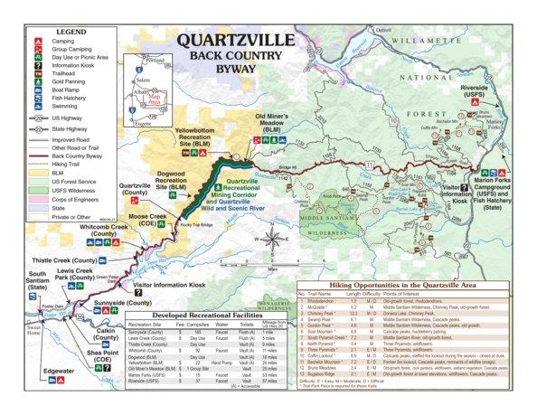 Quartzville Back Country Byway Bureau Of Land Management Oregon