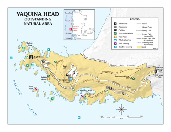 Lighthouses In Oregon Map.Yaquina Head Outstanding Natural Area Bureau Of Land Management