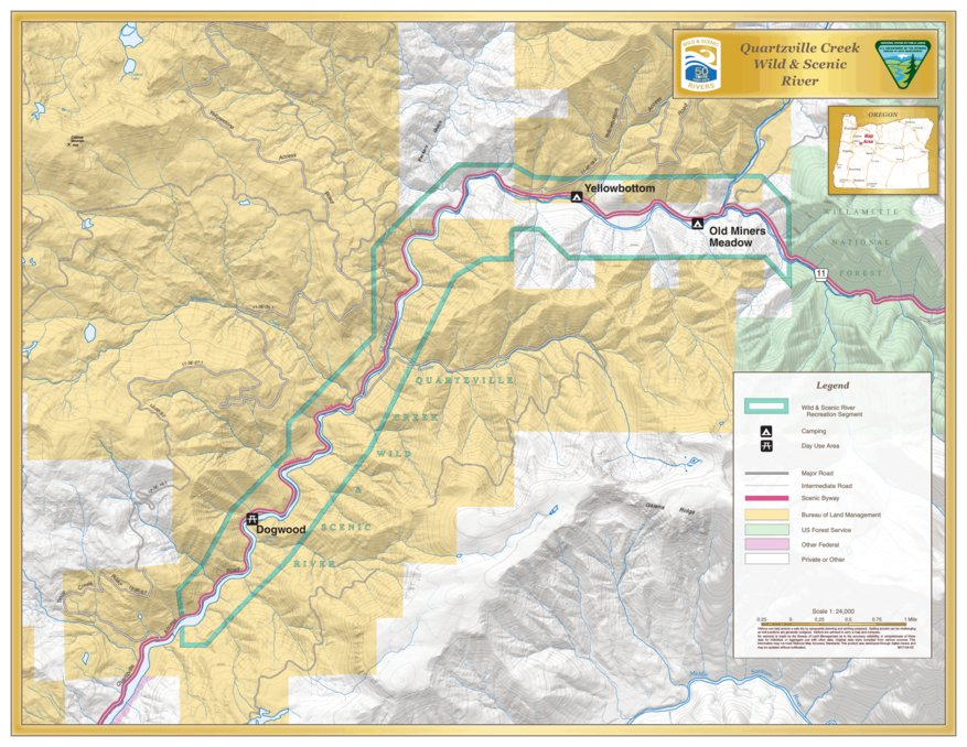 Quartzville Wild And Scenic River Bureau Of Land Management