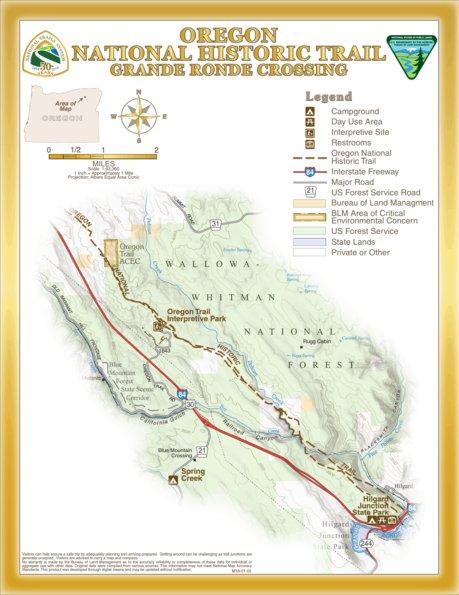 Grand Ronde Oregon Map.Oregon National Historic Trail Grande Ronde Crossing Bureau Of