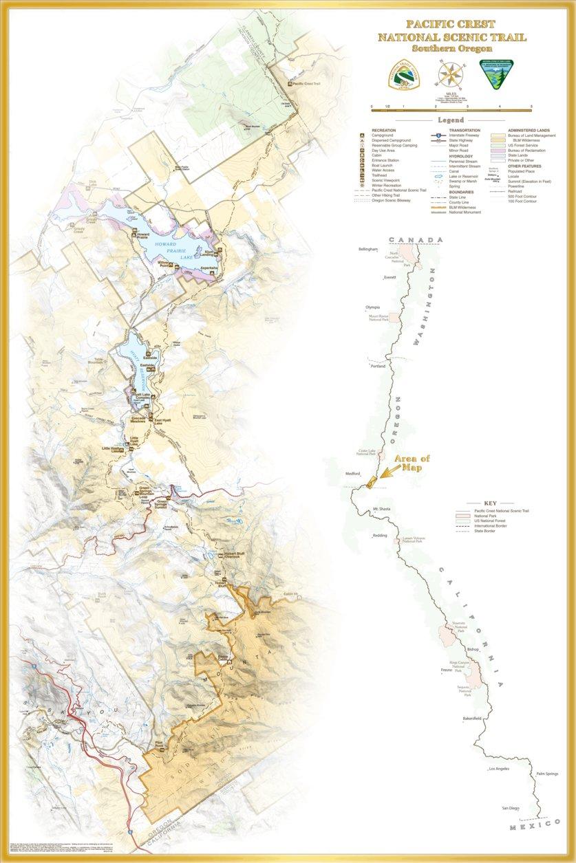 National Trails Act: Pacific Crest Trail - Southern Oregon - Bureau ...