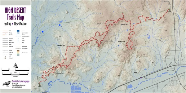 High Desert Trails Map