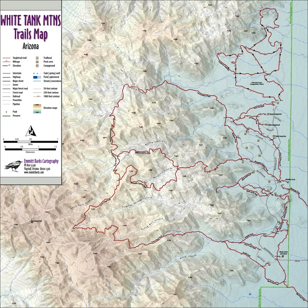 White Tank Mountains Trails Map
