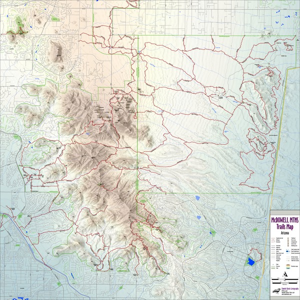 McDowell Mountains Trails Map