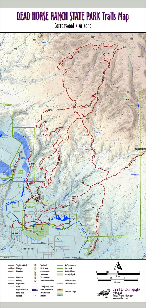 Dead Horse Ranch State Park Trails Map