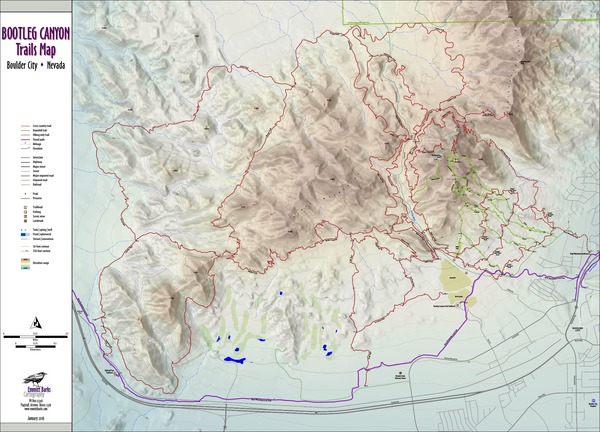 Bootleg Canyon Trails Map