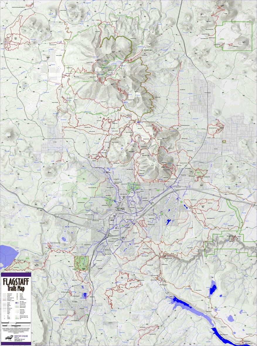 Flagstaff Trails Map