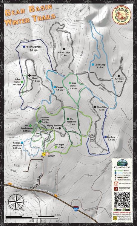 Bear Basin Winter Trails Free City Of Mccall Avenza Maps