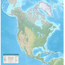 Physical Features of North America - Elevations in Meters
