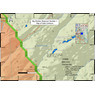 Big Monitor Reservoir Number 1 Gold Prospecting Map, Montrose County, Colorado