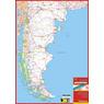 Mapa de Rutas y Caminos de Argentina Sur